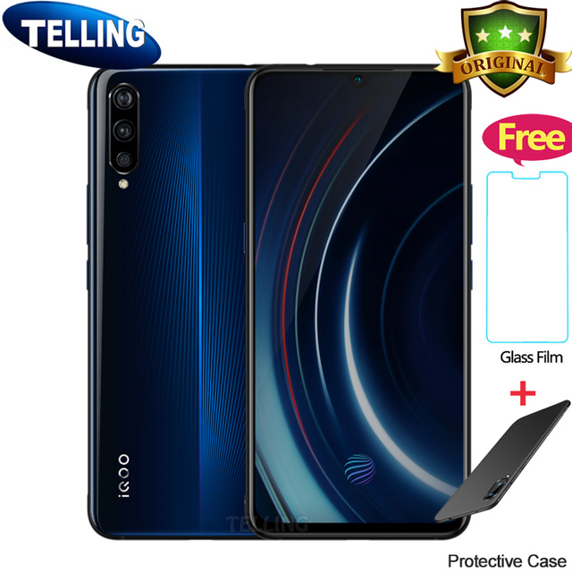 Authorized Vivo IQOO Mobile Phone Android 9.0 Snapdragon 855 Octa Core AMOLED 6G/8G/12G+128G/256G NFC Type-C 4000mAh Cellphone