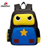 RUIPAI Nylon Children School Bags Cartoon Robots Orthopedic Kindergarten Girls Kids Baby Children Backpacks Primary Schoolbags