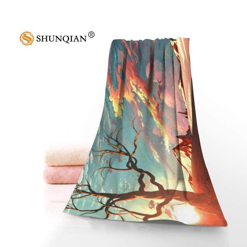 Nuevo encargo Hayao Miyazaki impreso algodón cara/toallas de baño de microfibra tela para niños hombres mujeres ducha toallas