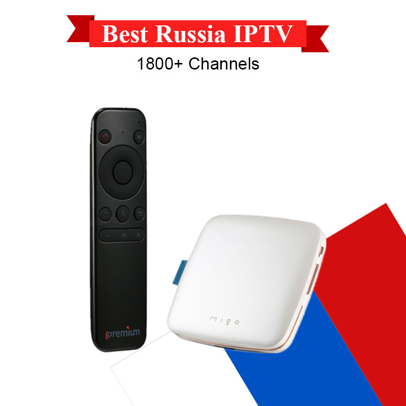 Ipremium Migo Android 5.1 4K H.265 Mini Smart TV Box Russian IPTV 4800+ Channels Live Streaming VOD Mini Portable Media Player