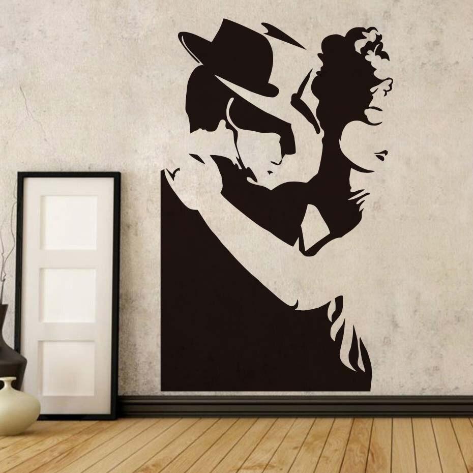 Силуэты рисунок на стене