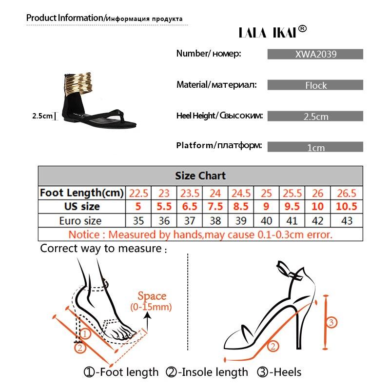 Summer Flat Sandals Gladiator Flip Flops Narrow Band Women Sandals New Summer Women Shoes 014A2039 4