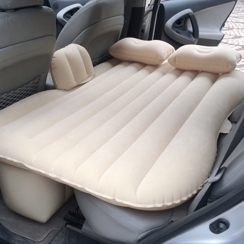 Universal Outdoor Travel Mattress Car Seat Cover Back Set Air Inflatable Bed Auto Soft Bedding Wave