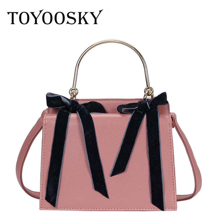 b2d1b2fc1e8e TOYOOSKY Metal Handle Small Handbags Hot Sale Famous Brand Women Messenger  Shoulder Bags Sweety Bow Ladies Evening Clutch Bag