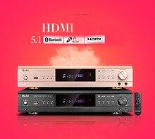 Золотой/черный 600 Вт 105 HDMI Высокое разрешение Digital 5.1 канал Bluetooth цифровой Караоке дома Театр Усилители домашние Волокно коаксиальный