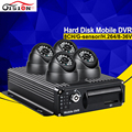 Drop Shipping 4CH CCTV System MDVR 4PCS 600TVL IR Minitoring Camera Vehicle Security System Car Surveillance Kits