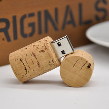 free shipping new year gifts wooden 16gb usb 2 0 bottle Cork Stopper USB flash font