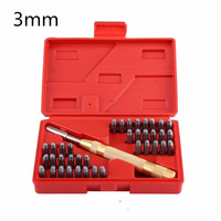 3mm Steel Alphabet Letter Number Stamp Punch Tool Set For Steel Metal Wood Leather 1 Automatic