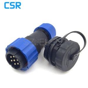 SD20TP-ZM, Ip68 wasserdichte power connector 7 pin Männlichen und weiblichen stecker, auto power connector 7 pin stecker und buchse, 10A