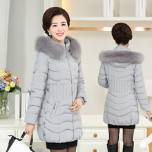 Среднего возраста женщин новый пуховик 40-50 года старый среднего возраста матери в зимнее пальто длинные толстые пальто