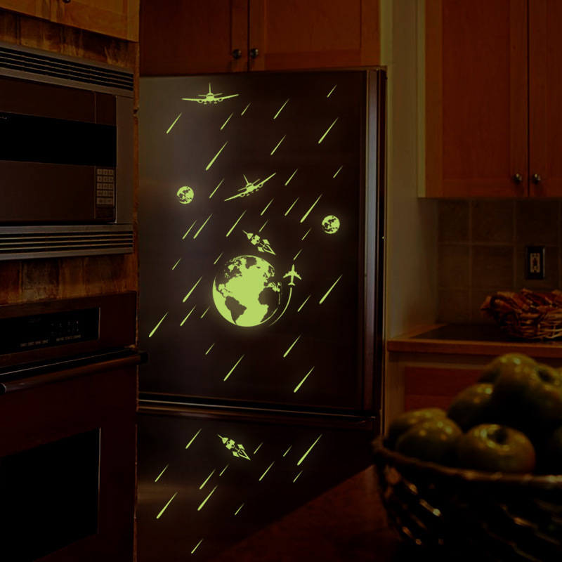 KEDODE Cosmic meteor shower small luminous stickers fluorescent paste living room bedroom children room wall stickers