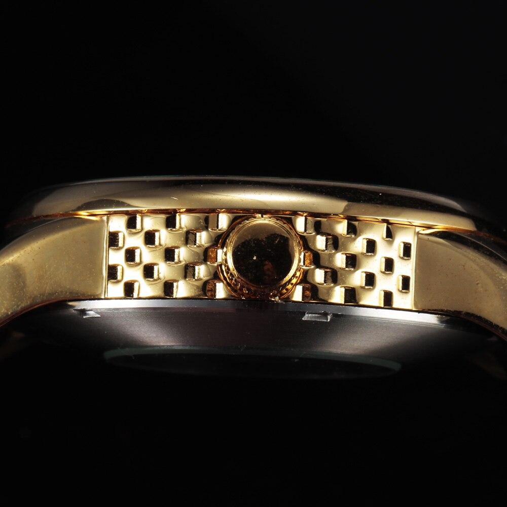 SEWOR Skeleton Mechanical Watch Былғары Relogio Masculinos - Ерлердің сағаттары - фото 6