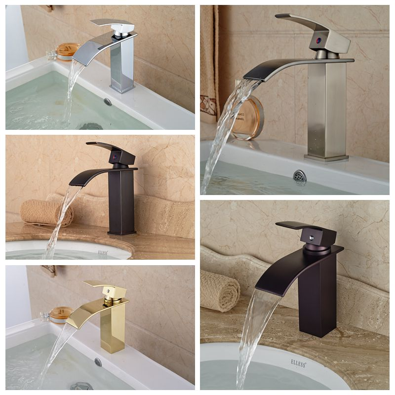 Wholesale And Retail Free Shipping Waterfall Bathroom Basin Faucet Square Vanity Sink Mixer Tap Single Handle Hole тонер картридж kyocera mita tk 130