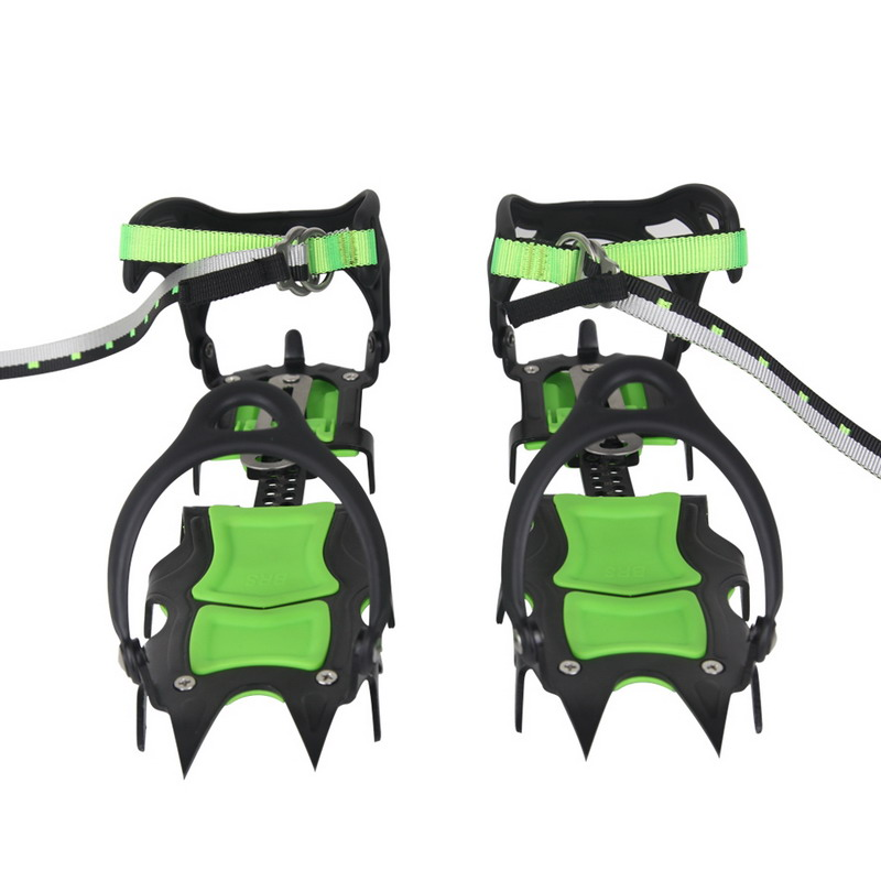 Outdoor  Ultra-light Anti-crystallization 14Teeth Bundled Crampon Ice Gripper Hiking Climbing Equipment High Quality P5