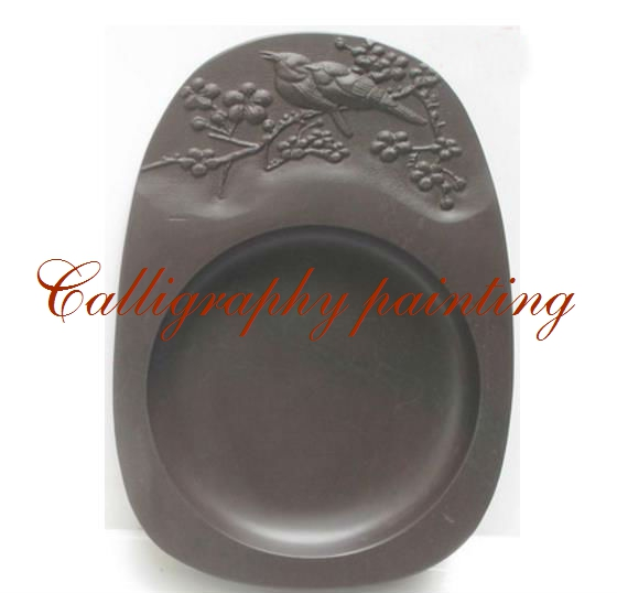 Chinese Zhaoqing Duan Yan Ink Stone Carved Birds and flowers Inkstone Calligraphy Painting Tool 14223 chinese zhaoqing song keng inkstone horse pattern inkstone calligraphy painting tool 12838