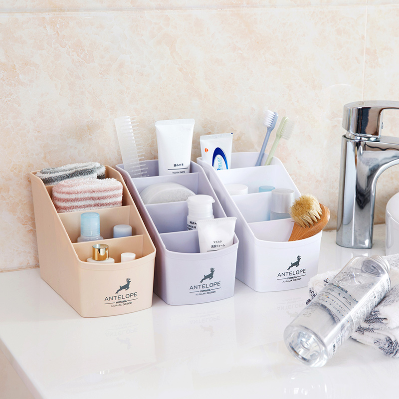 Simple Style Bathroom Cosmetic Storage Box Desktop Makeup Organize Storage Cosmetic Cases Remote Control Sundries Storage Holder