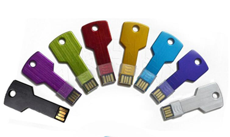 Real capacity Colorful Metal Key shape usb flash drive 4GB 8GB 16GB 32GB 64GB 128GB pen drive pendrive U disk Thumb memory stick
