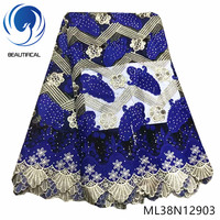 BEAUTIFICAL French Cord Lace Blue African Dress Lace Embroidery Tulle French Lace with Guipure Nigerian ML38N129