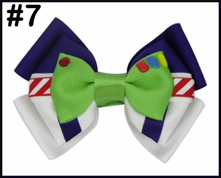 """5 шт 4,5-5,"""" История Вдохновленный персонаж W oo-dy Jess-ie B o Peep-Buzz& Al ien банты для волос - Цвет: 20190618007"""