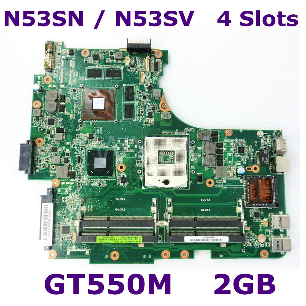 N53SN GT550M 2G Video Memory 4 Slots RAM Mainboard REV 2.2 For ASUS N53S N53SV N53SN N53SM laptop motherboard Test work 100%