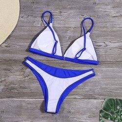 Женский Одноцветный комплект бикини, сексуальный купальник с низкой талией, купальник, летний купальный костюм, низкая талия, пляжная одежд... 5