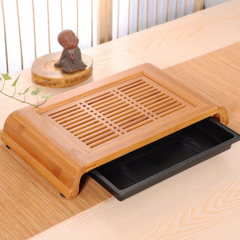 40*22*6 cm Bambou Plateau Kungfu Table à Thé plateau Bambou Table à Thé chinois thé ensemble bambou thé conseil