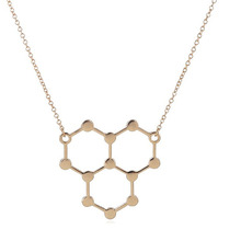 Wholesale Jewelry 10pc Ice Hydro Molecule Science Chemistry Pendants&Necklaces Unique Water H2O Molecule Necklace For Cute Women
