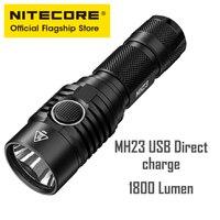 Nitecore mh23 울트라 브라이트 롱 샷 usb 직접 충전 소형 손전등 원 클릭 컨트롤 강력한 라이트 손전등