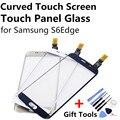 Curva Pantalla Táctil Panel Táctil Lente de Cristal Digitalizador de Pantalla Táctil para samsung s6 edge s6edge oro blanco azul marino azul + regalo herramienta