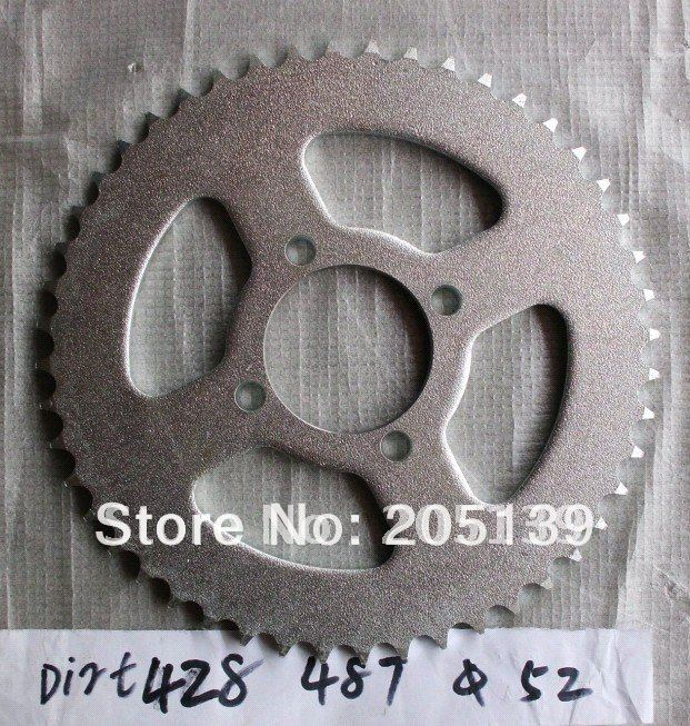 motorcycle parts rear gear <font><b>sprocket</b></font> tandwiel 48 tooth 428 chain inner bore 52 mm for MOTO ATV Dirt pit bike pitbike image