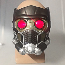 Cos Guardians av Galaxy Helmet Cosplay Peter Quill Hjälm PVC med Led Light Star Lord Hjälm Halloween Party Mask Vuxna