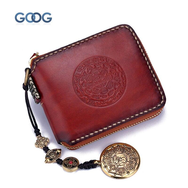 Hand-made short pants lips wallet multi-card bit retro treasures planted tannage mens wallet book deduction zipper bag
