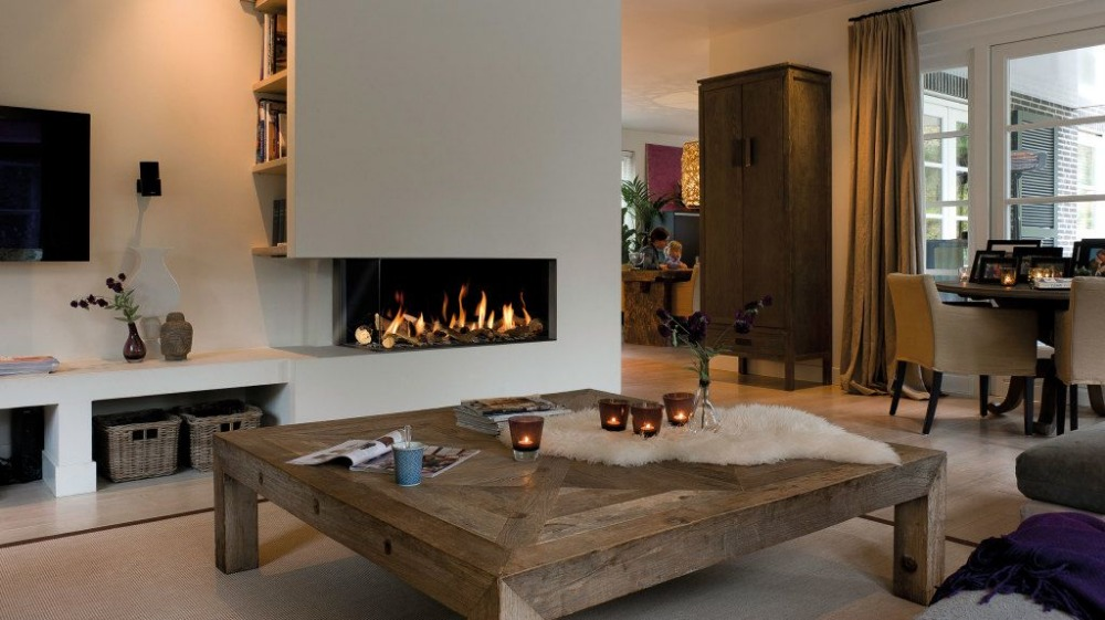 36 Inch Silver Or Black Real Fire RS485  RS232 Dry Contact Intelligent Smart Bioethanol Fires