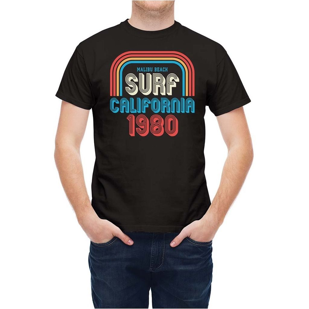 t shirt surfinger california 1980 high quality printed. Black Bedroom Furniture Sets. Home Design Ideas