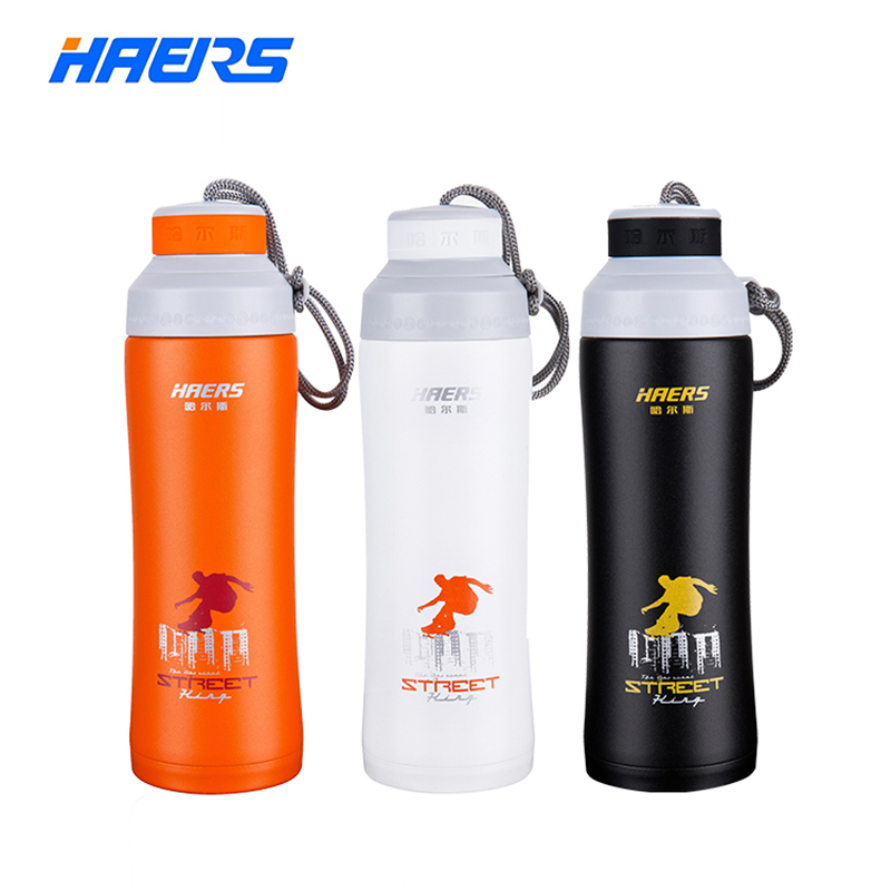 450ml Haers Bicycle Bike Sports Double Layer 304 Stainless Steel Thermal Vacuum Insulation Outdoor Sports Hydration Water Bottle