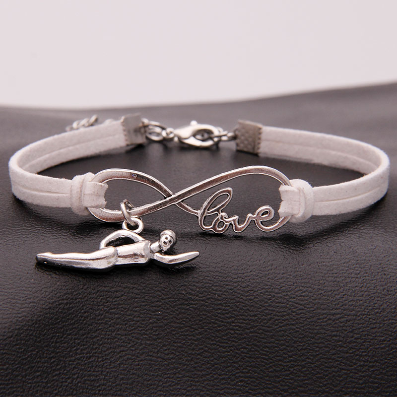 Infinity Collection Swimming Bracelet Swim Bracelet Swim Jewelry for Swimmers
