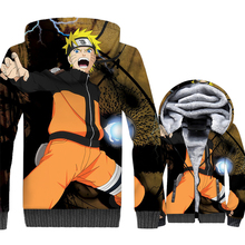 Uzumaki Naruto jackets men thick wool liner tracksuits harajuku hot Anime hooded hoodies 2019 winer 3D Printed swag coats