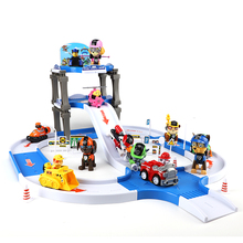 Paw Patrol pupply dog track car paw patrol toys set Patrulla Canina Juguetes Action Figures Kids birthday Gift