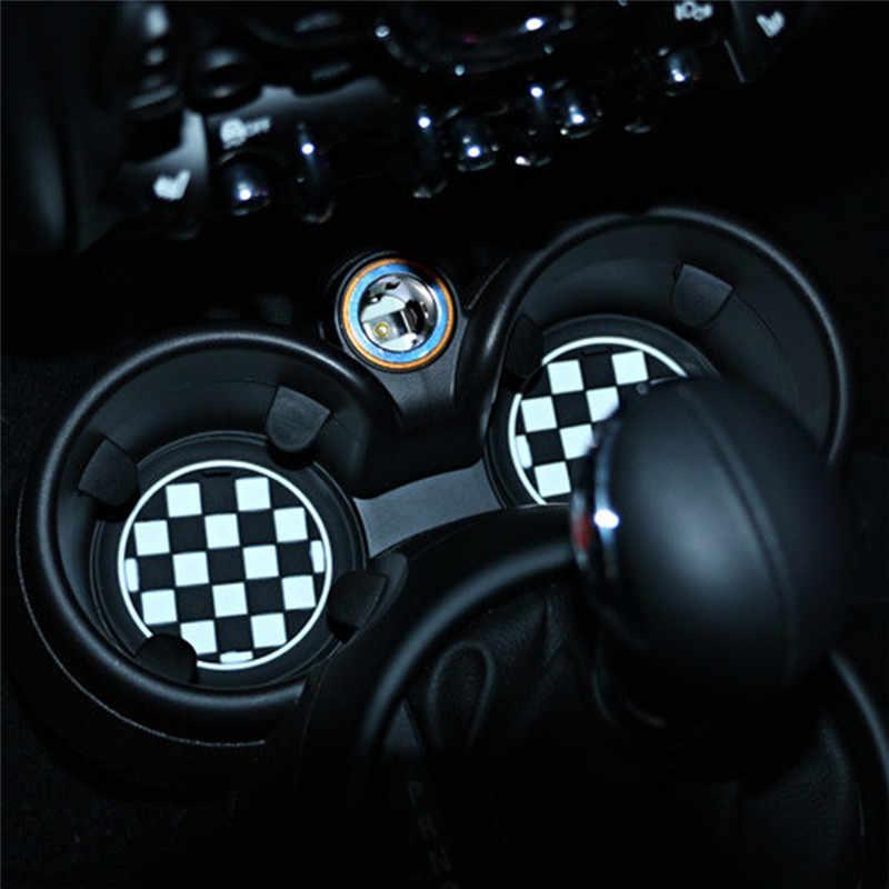 جديد سيليكون سيارة مكافحة زلة كأس سيارة كأس حصيرة سادة كوستر جل حصيرة لسيارات BMW Mini كوبر
