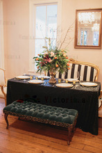 New Arrival 48''x48''(122cmx122cm) Rectangle Black Sequin Tablecloth for Wedding/Party/Events Tablecloths Decoration
