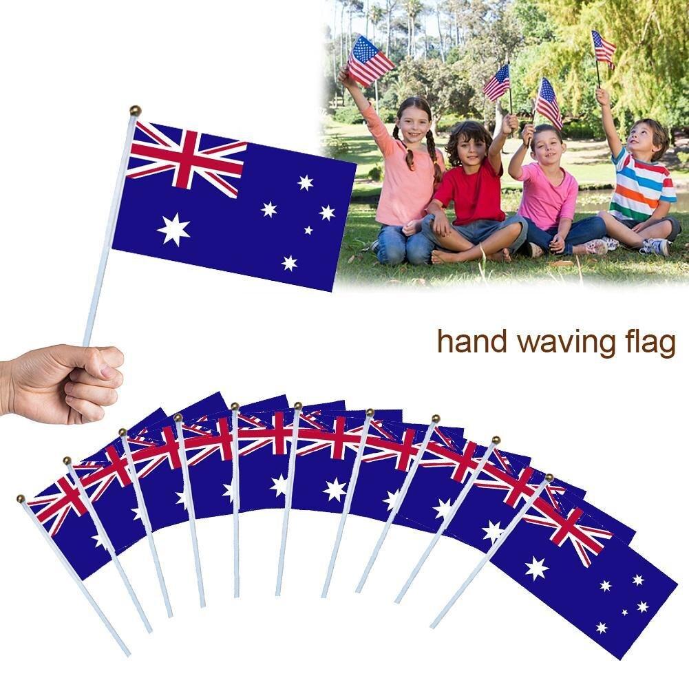 "Happy 60th Birthday Celebration Small Hand Waving Flag 6/"" x 4/"""