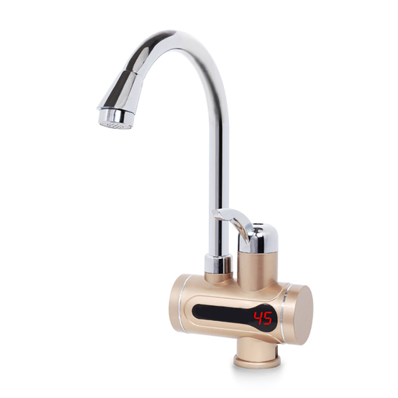 220V Electric Tankless Hot Water Tap Instant Chauffage Heater Tap Kitchen Faucet Calefactor Temperature Display Water Heater