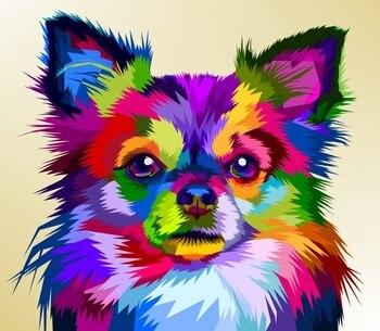 5D Diy pintura de diamante de taladro completo colorido perro animal bordado decoración de punto de cruz stitch rhinestones moaic, regalo decoración del hogar