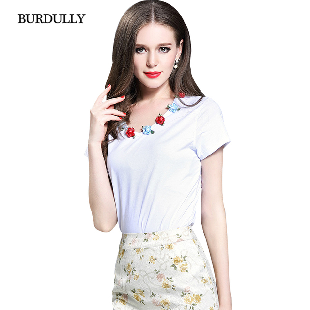 BURDULLY Harajuku Short Sleeve T shirt Womens 2019 New Summer Women Plus Size High Quality Cotton T shirt camisetas mujer verano
