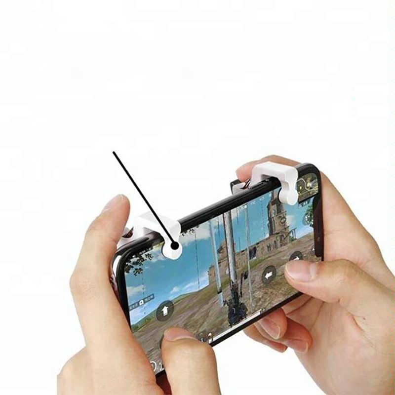 PUBG игры для мобильных телефонов металлическая Механическая пусковая схема джойстик игровая кнопка помощи контроллер геймпад для IOS Android 1 пара