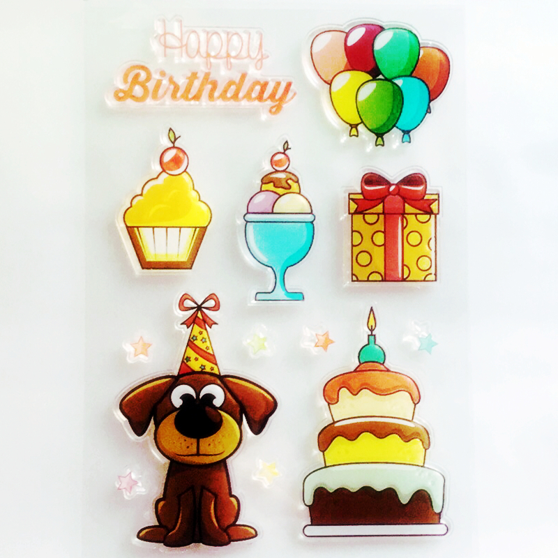 YLCS355 Birthday Silicone Clear Stamps For Scrapbooking DIY Photo Album Cards Decoration Transparent Stamp Craft
