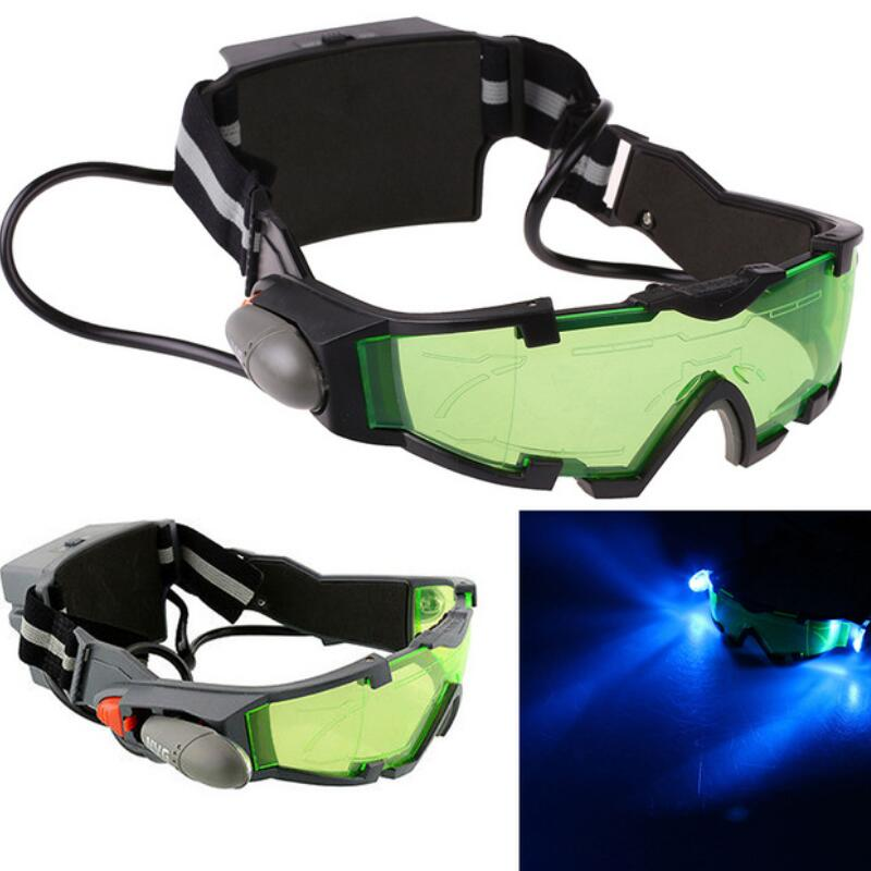 2018 New Arrivals Adjustable LED Night Vision Goggles With Flip-Out Lights Eye Lens Glasses Hot Selling With LED adjustable elastic band night vision goggles glass children protection glasses cool green lens eye shield with led