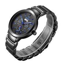 Famosa Lujo Masculino Deporte Relojes de Cuarzo Marca de Fábrica Superior reloj de Pulsera Relogio masculino Hombre de Acero De Tungsteno Doble Calendario Relojes