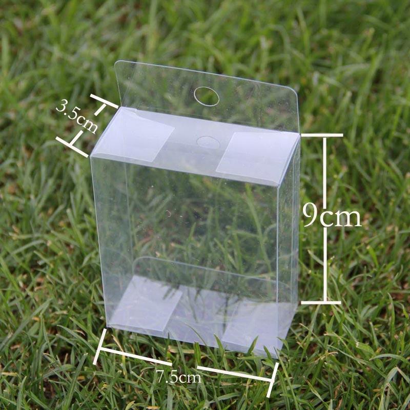 Cajas transparentes cajas de plástico transparente con asa para ...