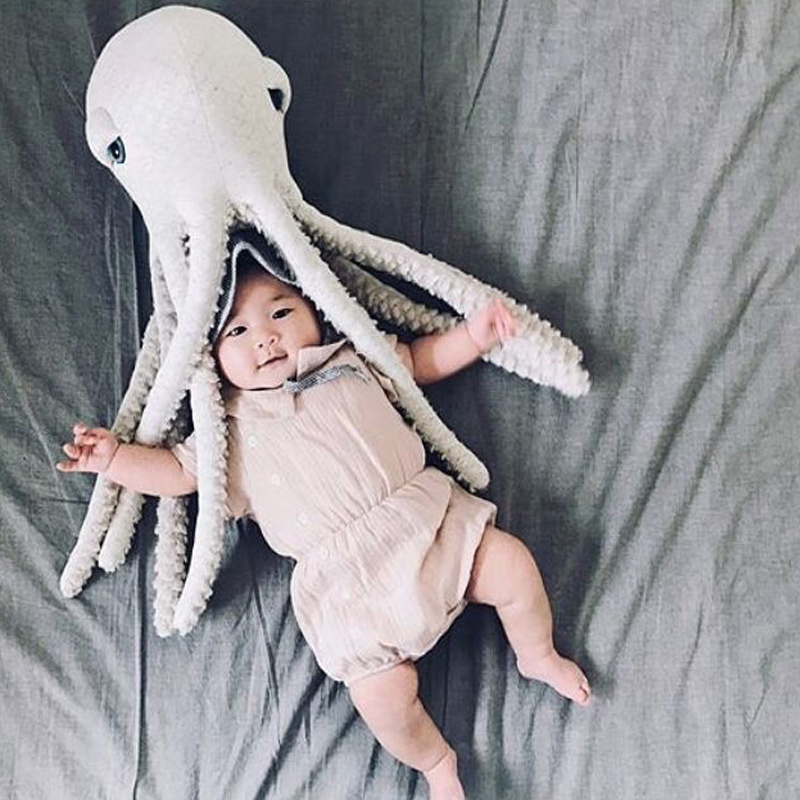 Baby Pillow Children Doll Infant Sleeping Soft Octopus Cushion Baby Octopus Decorative Pillow Cartoon Room Decor Plush Doll Toy Finely Processed Pillow